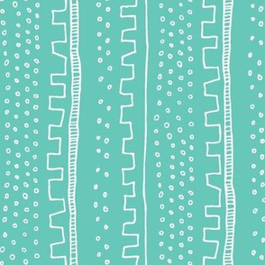Vertical Teal Stripe
