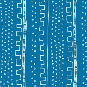 Vertical Blue Stripe