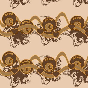 Brown and orange retro-border
