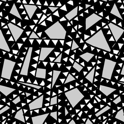 Triangle Tape - Black, White  fabric by jesseesuem on Spoonflower - custom fabric