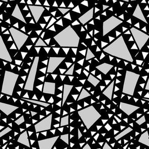Triangle Tape - Black, White