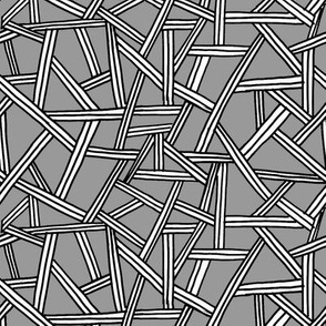 Triple Lines - Black, White