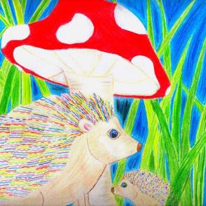 Hedgehog_with_Mushroom