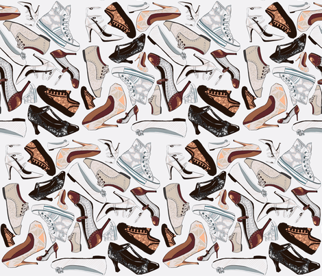 Shoes fabric by artytypes on Spoonflower - custom fabric