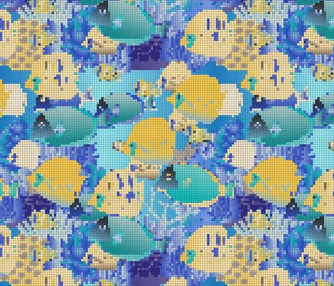 tropical fish fabric by kociara on Spoonflower - custom fabric