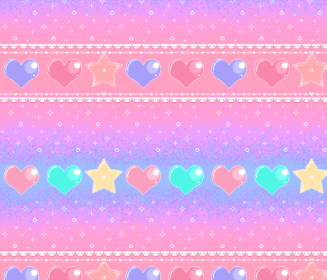 8bit sweet heart fabric by lixxieb on Spoonflower - custom fabric