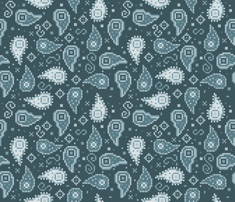 8-Bit Paisley fabric by nikijin on Spoonflower - custom fabric