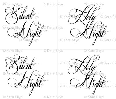 Silent Night Holy Night Pillows