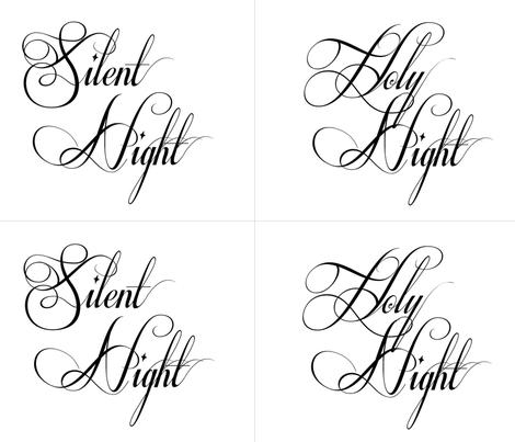Silent Night Holy Night Pillows fabric by karaskye on Spoonflower - custom fabric