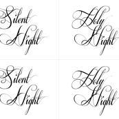 Silent Night Holy Night Pillows