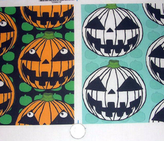 orange Pumpkin Jack O' Lantern green black