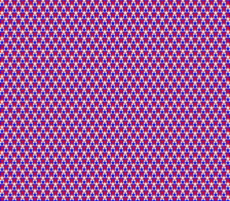 Red White Blue Star fabric by pd_frasure on Spoonflower - custom fabric