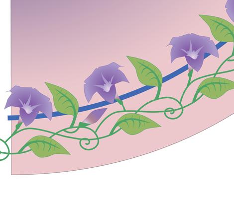 Circle Skirt with Flowering Vine Edge fabric by heatherdoodle on Spoonflower - custom fabric
