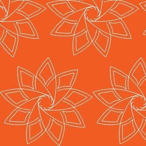Spirograph Mum Orange