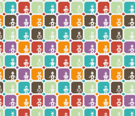 Automaton Army fabric by happyprintsshop on Spoonflower - custom fabric