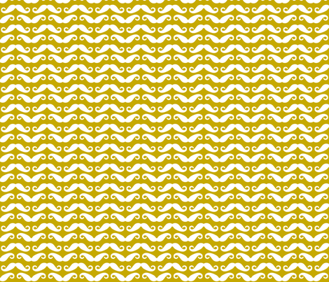 Mustard mustache allover fabric by newmomdesigns on Spoonflower - custom fabric