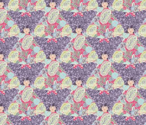 flora_violet_pattern fabric by lfntextiles on Spoonflower - custom fabric