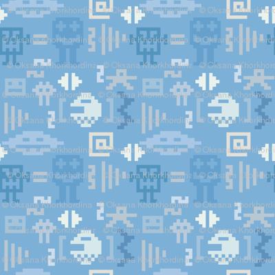 Pixel monster pattern