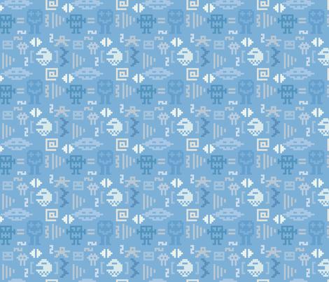 Pixel monster pattern fabric by ksanask on Spoonflower - custom fabric