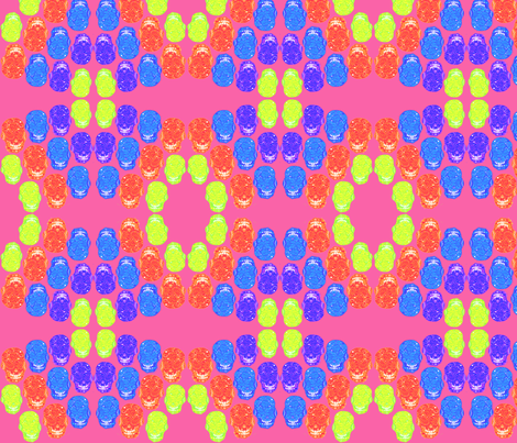Candy Skulls Pink fabric by frockyes on Spoonflower - custom fabric