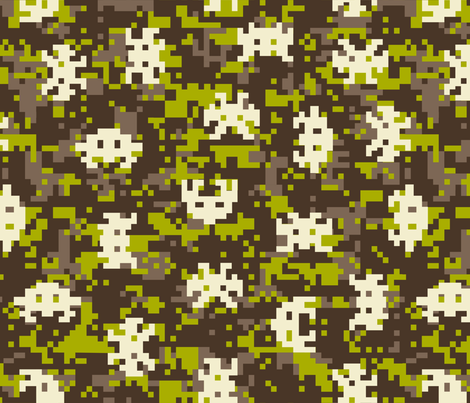 Gamepix Monster Camo fabric by mariafaithgarcia on Spoonflower - custom fabric
