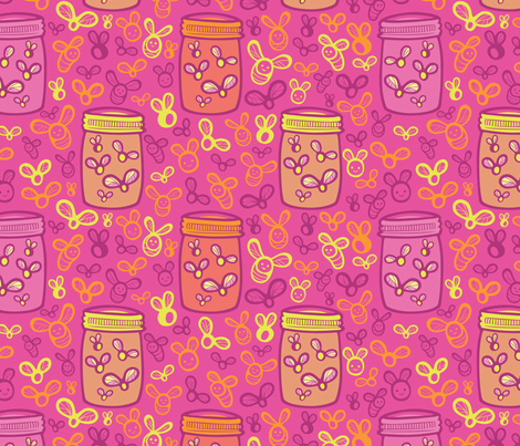Jar of Lights fabric by smashworks on Spoonflower - custom fabric