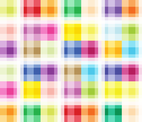 8 Bit Blocks fabric by oliveandruby on Spoonflower - custom fabric