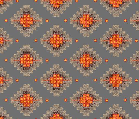 8-bit_argyle_-_dungeon_fireballs_png_full_length fabric by dahbeedo on Spoonflower - custom fabric