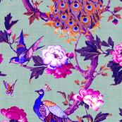 Vintage Peacock (Violet + Grey)