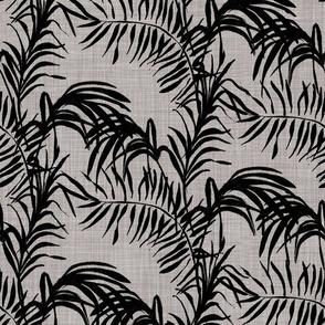 Tropical Palm (black grey)