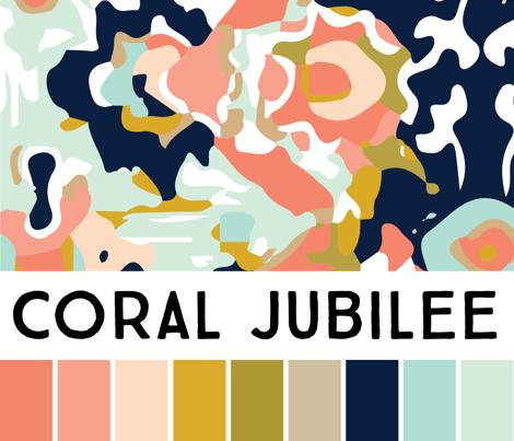 coral aztec stripe