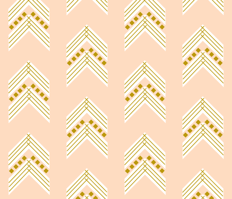 blush gold chevron large fabric by ivieclothco on Spoonflower - custom fabric