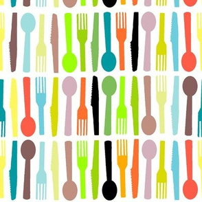 Fashion Plate kitchen Cutlery white