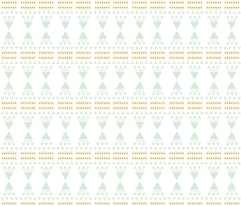 golden teepees fabric by ivieclothco on Spoonflower - custom fabric
