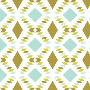 mustard aqua triangle fall