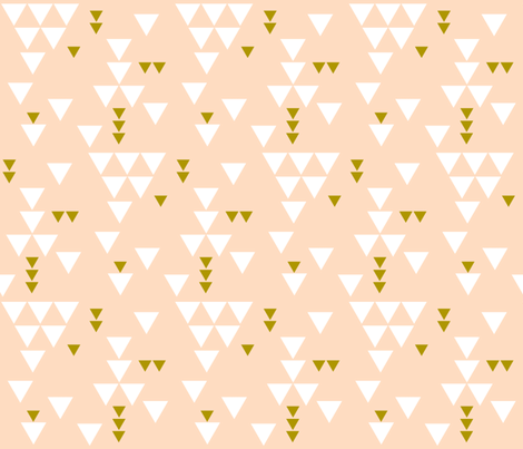 blush triangle fall fabric by ivieclothco on Spoonflower - custom fabric