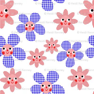 Gingham Flowers