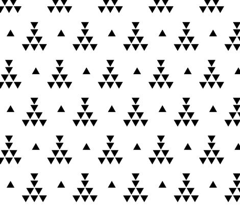 Tribal teepee  fabric by mintpeony on Spoonflower - custom fabric