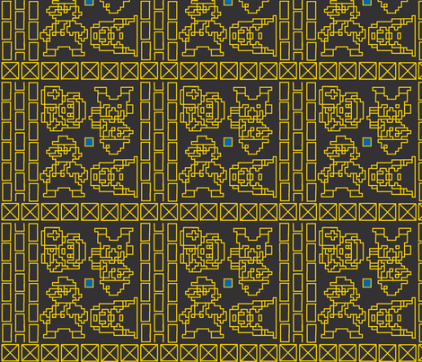 Oh, how I wish I had an NES - black fabric by ms_majabird on Spoonflower - custom fabric