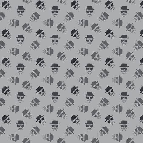 Le chef in grey fabric by susiprint on Spoonflower - custom fabric