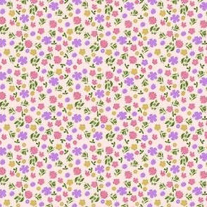cream floral ditsy