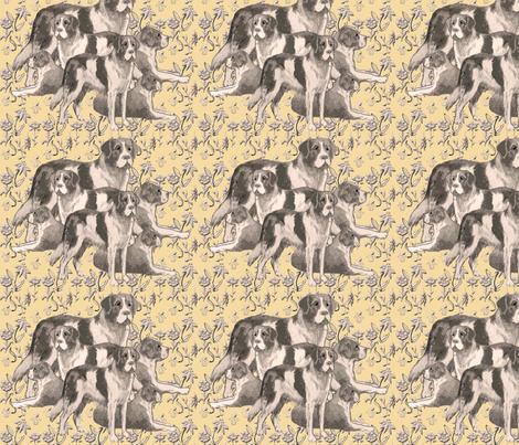 Saint Bernards Pastel fabric by dogdaze_ on Spoonflower - custom fabric
