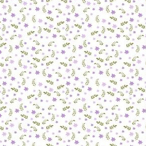 Ditsy floral (white ground)