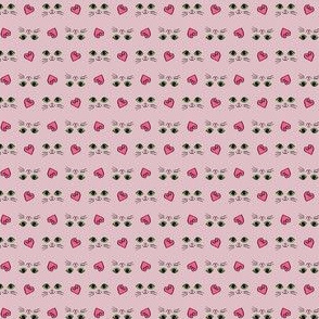 Kittyface hearts pink