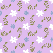 Formal floral (lavender ground)