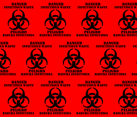 Biohazard Infectious Waste Wallpaper Drfrybrain Spoonflower