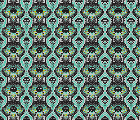 scaled invasion mint fabric by cjldesigns on Spoonflower - custom fabric