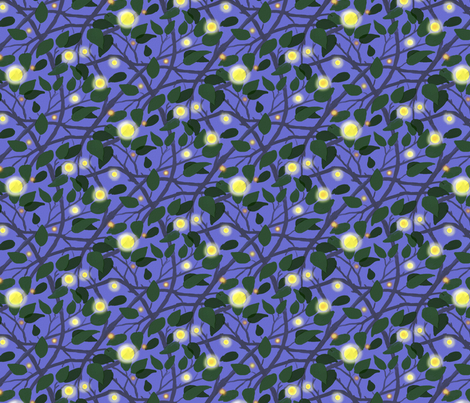 Fireflies in the Garden Bright Version fabric by vinpauld on Spoonflower - custom fabric