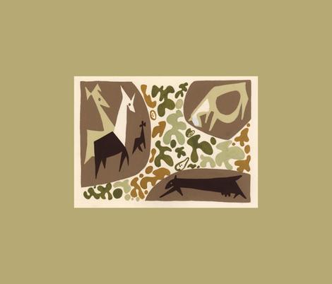 Animal Fables 10 1947 Giraffe and Bull fabric by htsvik on Spoonflower - custom fabric
