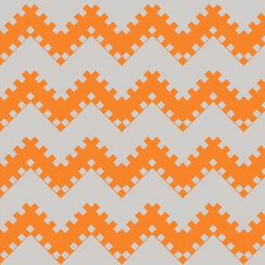 8bit Chevron in Orange